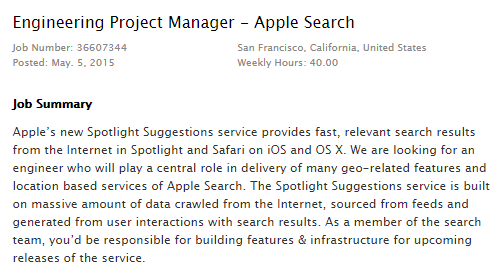 Apple search offre d'emploi
