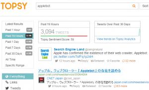 Topsy recherche tweets