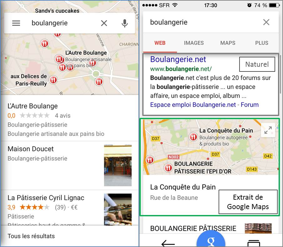 Google-Maps-mobile-application