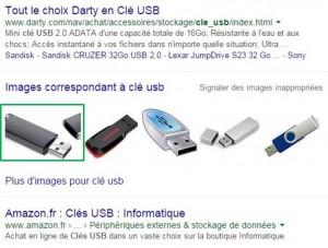 Clé USB dans Google Images