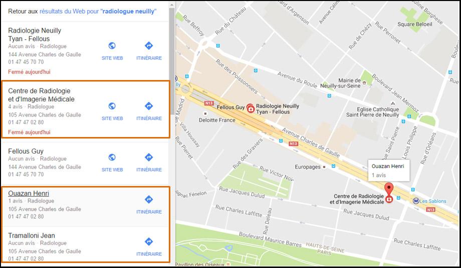 Google Maps avant Google Possum