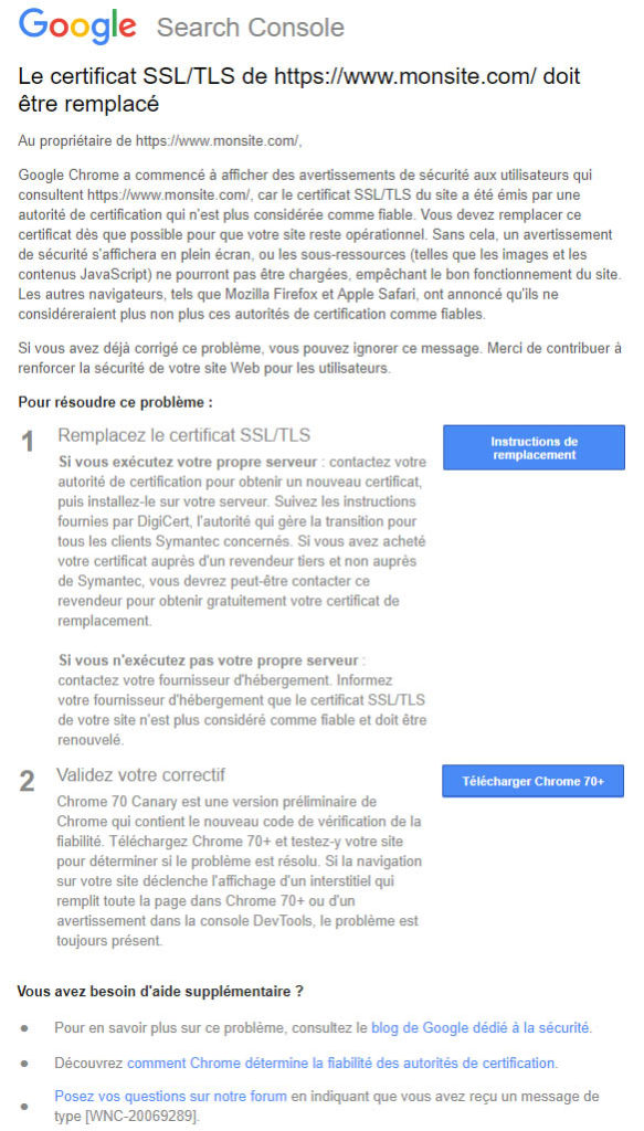 google-message-search-console-certificat-ssl