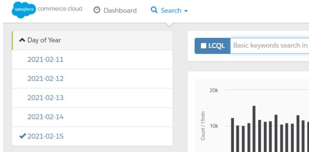 Logs serveur sur SalesForce Commerce Cloud