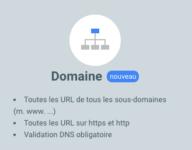 Search console domaine