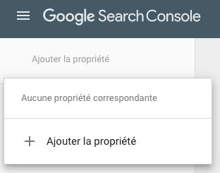 Ajout d'une Search Console de Domaine